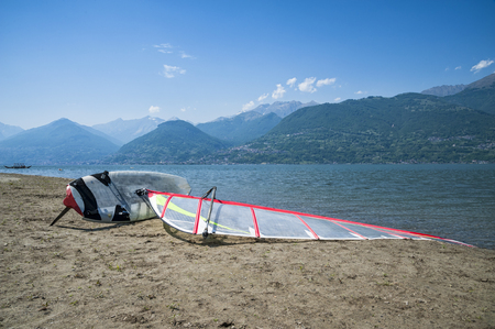 seaa: windsurf on a beach Stock Photo