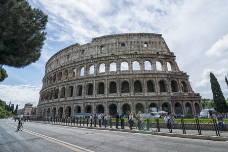 allover: Rome Italy 05162015: The colosseum is one of the most famous historical buildings of the world. Everyday it39s visited by Thousands of tourists from allover the world. It is the symbol of Rome Editorial