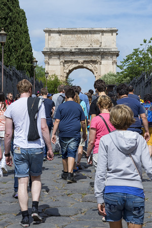 allover: Rome 05162015: everyday thousand of tourists come to visit rome anf its historical monuments. The city during the holiday39s period is crowded of people from allover the world