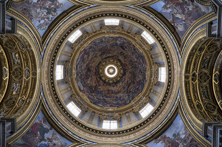 italian architecture: Rome 05162015: The church of St. Agnes in Agony is one of the most visited churches in Rome two to its central position in the famous Piazza Navona.
