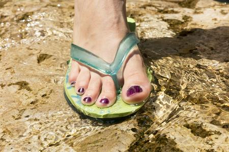 Foot in the water Standard-Bild