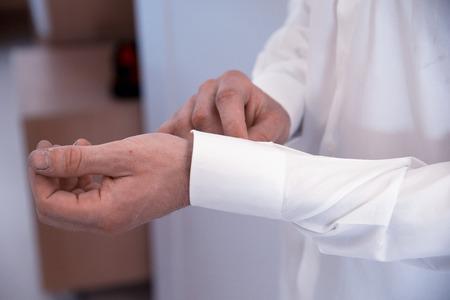 cuffs: Fasten cuffs