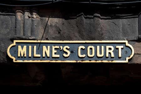 mile high city: Scottish road sign