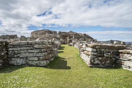 Prehistoric village scotland 写真素材