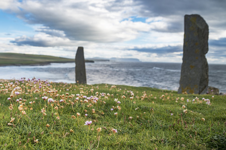 Orkney islands landscape Stock Photo