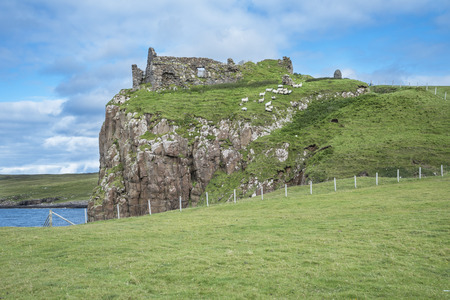 mediaval: Skye island castle Stock Photo