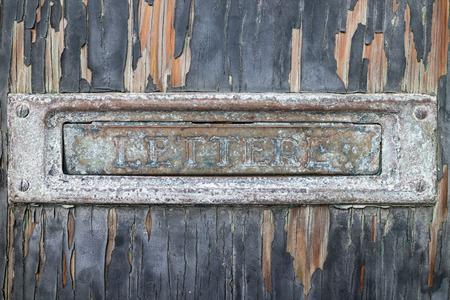 letter box: Old letter box
