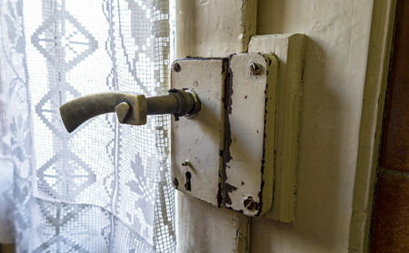 iron curtains: Old handle