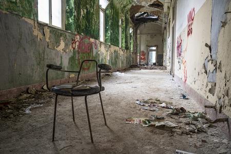 broken back: Abandoned chair
