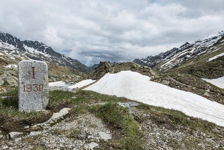 milestone: Milestone in the alps