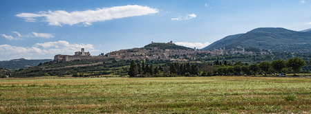 francis: Assisi landscape Stock Photo