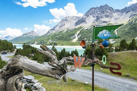 Vent indicatori dans les Alpes