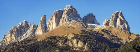sella: Sassolungo mountain Stock Photo