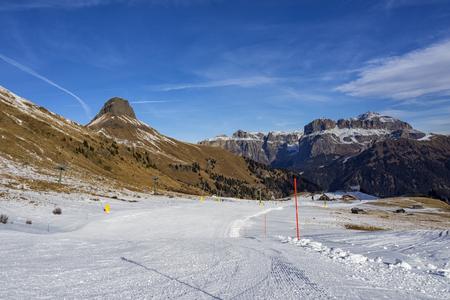 ski slopes: Dolomites ski slopes Stock Photo