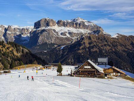ski slopes: Dolomites ski slopes Editorial