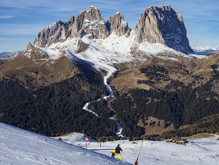 Dolomites ski area Stock Photo