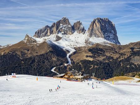 Dolomites ski area Standard-Bild