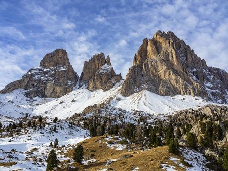 fassa: Sassolungo mountain in dolomites Stock Photo