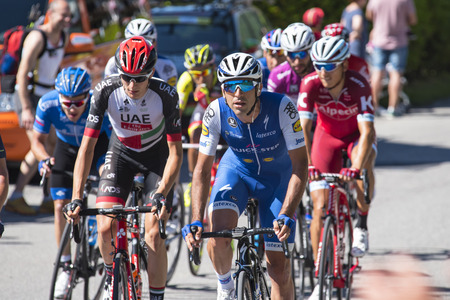 Giro dItalia 2017 05212017 ( Italy ): Pictures of the Giro dItalia one of the most important cycling competitions in the world. Public can stand next to the route supporting and taking photos