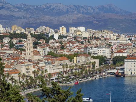 分割の景観 (クロアチア) 写真素材