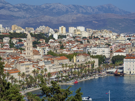 Split landscape ( Croatia ) Stock Photo