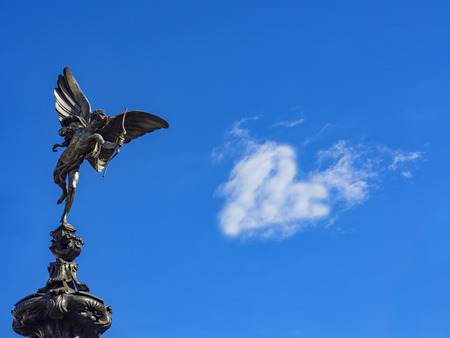 angels fountain: Piccadilly Circus Cupid Stock Photo