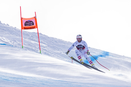 Bormio ( Italy )12282017: pictures of the freeride ski world championship. The winner was the Italian Dominic Paris, second place Aksel Lund Svindal  from Norway as the third place Jansrud Kjetil