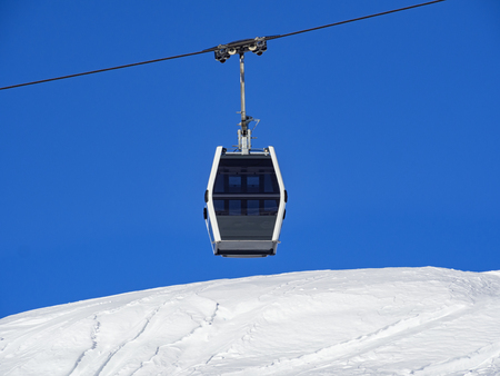 Cableway in the alps Stock Photo