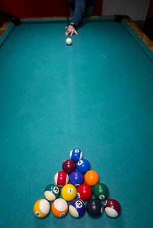 Snooker table Stockfoto