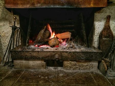 Old fireplace Фото со стока