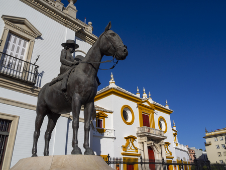 Facade of Plaza de Toros Building in Seville