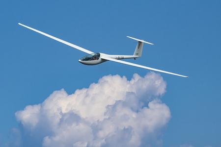 Glider plane flying