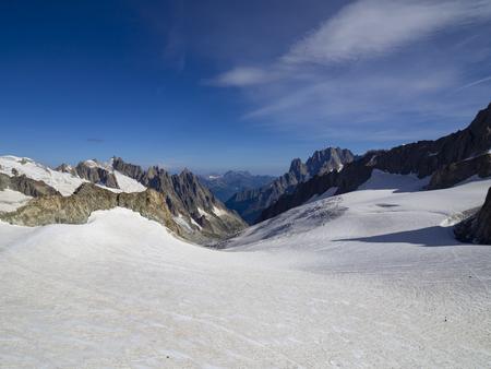 Mont Blanc glacier Stock Photo