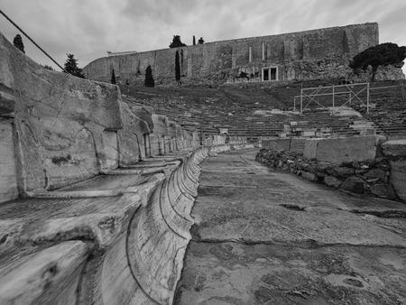Dionysus theatre in Athens acropoli