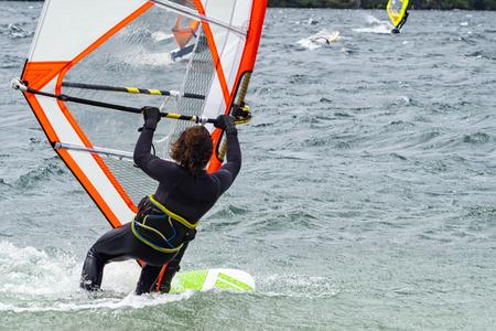 Windsurfing scene Banco de Imagens