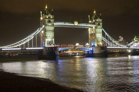 Tower Bridge of London at night