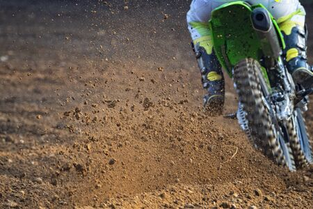 Motocross scene on a trail