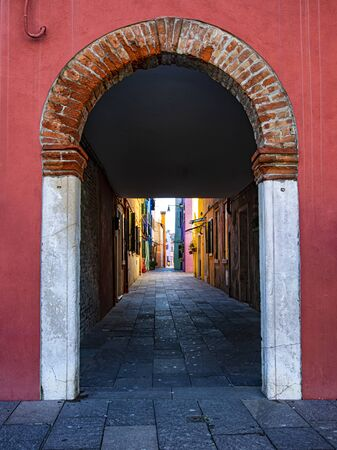 Foreshortening of an alley of Venice