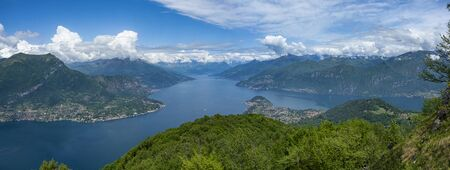Landscape of Lake Como from Nuvolone Mount