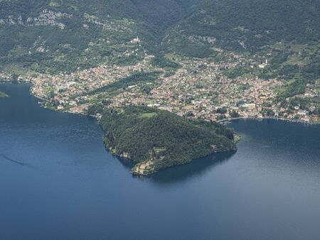 Balbianello peninsula and palace on Lake Como