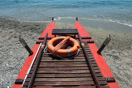 Detail of a typical Italian baywatch boat