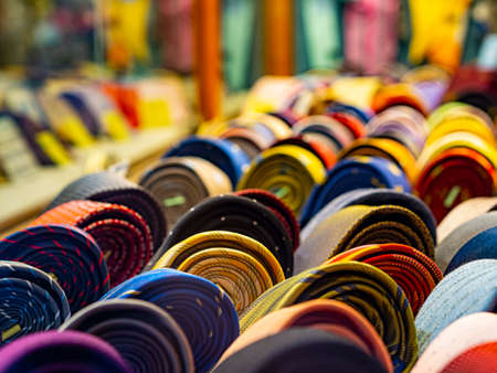 Necktie exposition in a shop