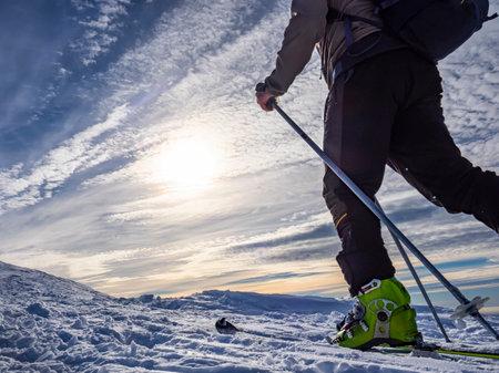 Ski mountaineer in the italian alps Banco de Imagens