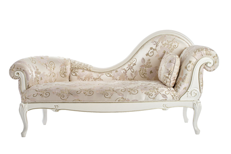 Carved couch in the Renaissance, Baroque isolated on white background. Archivio Fotografico