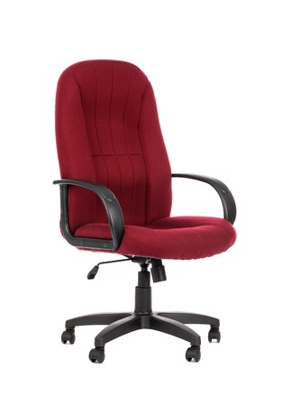 Red big office chair. Isolated on white background.