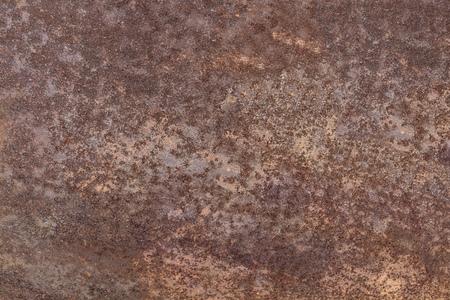 Dark brown worn rusty metal texture background. Old grunge steel surface. Vintage effect. Imagens