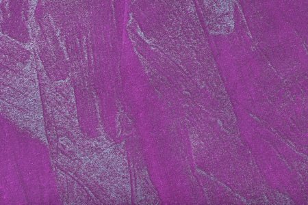 Abstract art background dark violet with silver color. Multicolor painting on canvas. Fragment of artwork. Texture backdrop. Decorative purple wallpaper. Structure of lavender paper.