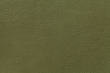 Dark green leather texture background, closeup. Olive cracked backdrop from wrinkle skin, structure of textile. 免版税图像