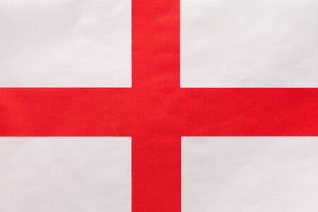 England national fabric flag, textile background. Symbol of international British world country. European state official sign,