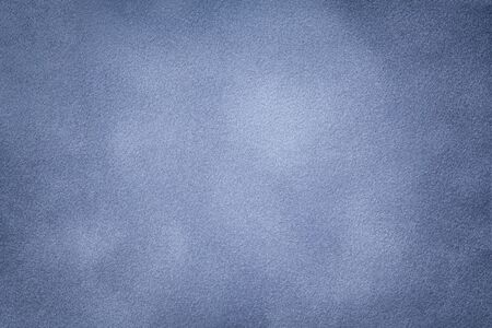 Background of light blue suede fabric closeup. Velvet matt texture of silver nubuck textile with vignette. Stok Fotoğraf